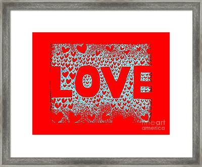Love In Red Framed Print by Helena Tiainen