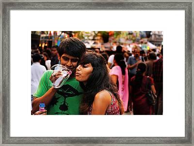 Love In The Air Framed Print