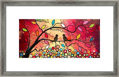 Love In The Air With Flowers Everywhere Framed Print