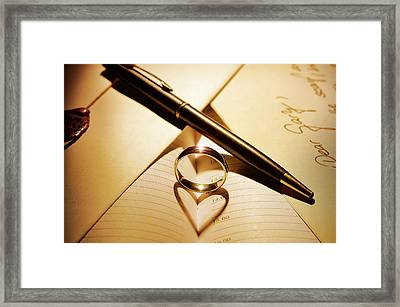 Love In The Shadows Framed Print by Gary Murison
