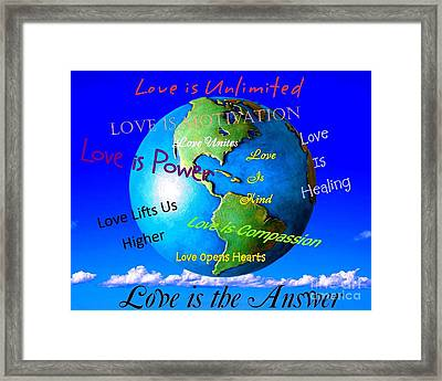 Framed Print featuring the digital art Love Is. . . . by Bobbee Rickard