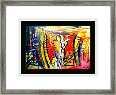 Love Is A Struggle Framed Print by Andrew Varghese