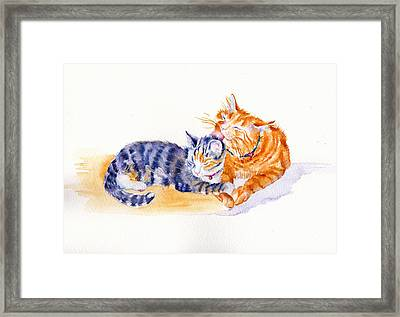 Love Is A Touch Framed Print