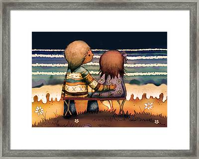 Love Is A Way Of Living Framed Print by Karin Taylor
