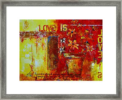 Love Is Abstract Framed Print