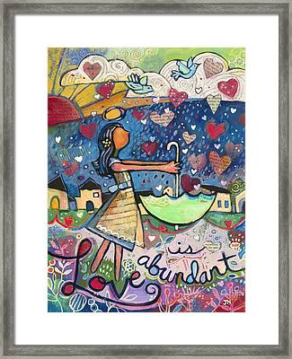 Love Is Abundant Framed Print by Jen Norton