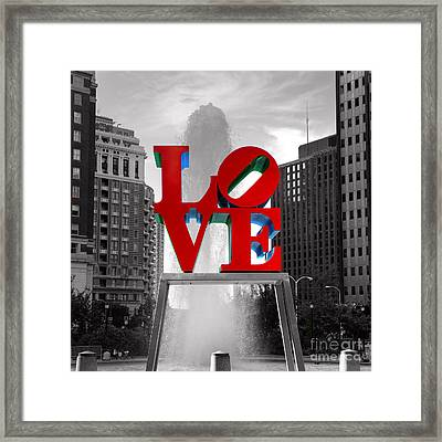 Love Is Always Black And White Square Framed Print by Paul Ward