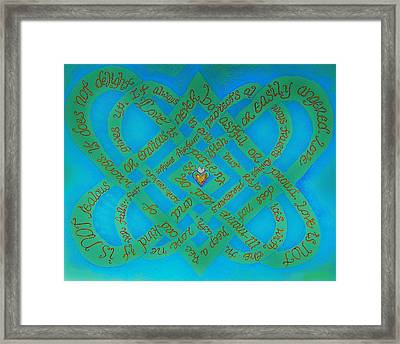 Love Is Blue Framed Print by Hidden  Mountain