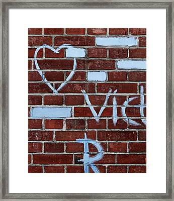 Love Is Blue Framed Print