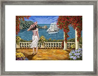 Framed Print featuring the painting Love Is Coming Home by Tim Gilliland