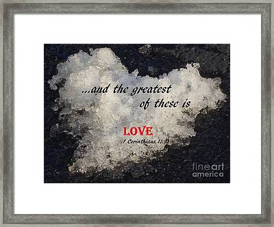 Love Is Great Framed Print by Christina Verdgeline