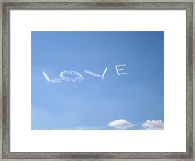 Framed Print featuring the photograph Love Is In The Air by Jodi Terracina
