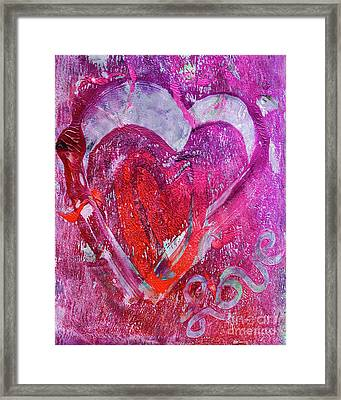 Love Is In The Air Framed Print by Laura L Leatherwood