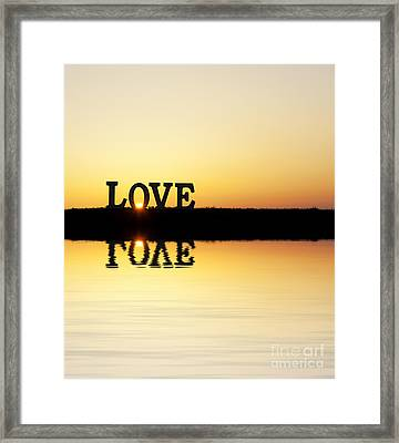Love Is Its Own Reflection Framed Print by Tim Gainey