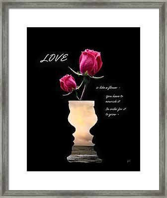 Love Is Like A Flower Framed Print by Gerlinde Keating - Galleria GK Keating Associates Inc