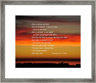 Love Is Patient Framed Print