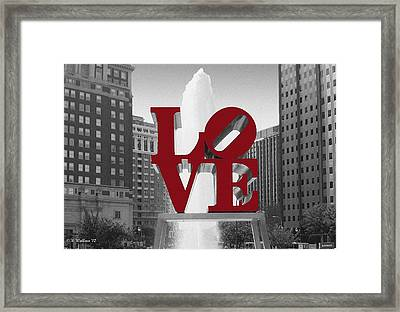 Love Is Red Framed Print by Brian Wallace