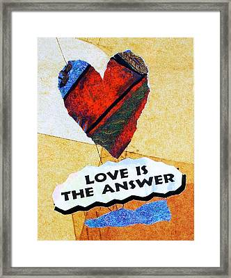 Love Is The Answer Collage Framed Print
