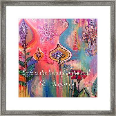 Love Is The Beauty Framed Print by Robin Mead