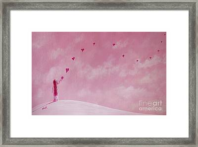 Love Is The Best Forever Gift Collection By Shawna Erback Framed Print by Shawna Erback