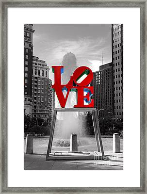 Love Isn't Always Black And White Framed Print by Paul Ward