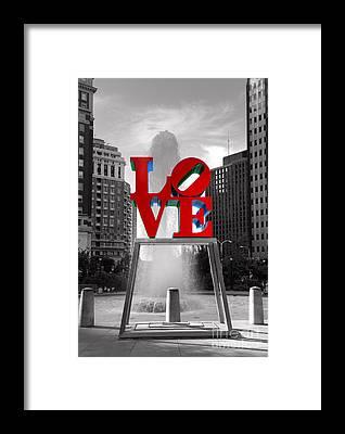 Love Park Framed Prints