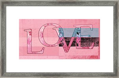 Love - J249115131t-vb Framed Print by Variance Collections