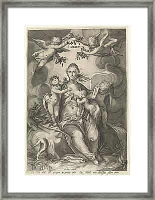 Love, Jan Saenredam, Anonymous, Hendrick Goltzius Framed Print by Jan Saenredam And Anonymous And Hendrick Goltzius