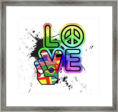 Love Framed Print by Jim Baldwin