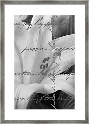 Love Joy Happiness Framed Print by BandC  Photography