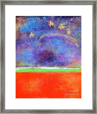 Love Land And Sky Framed Print by Johane Amirault