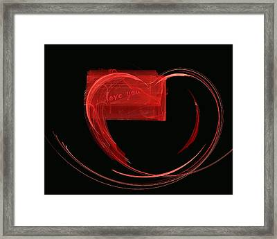 Love Letter Fine Fractal Art Framed Print by Georgeta  Blanaru