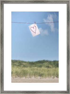 Love Letter From Cloud 9 Framed Print by Joana Kruse
