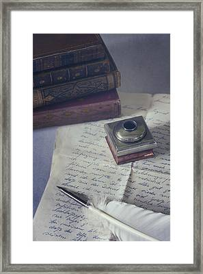 Love Letter Framed Print by Joana Kruse