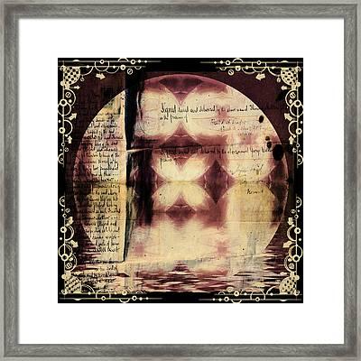 Love Letter Mandala - Contemporary Framed Print