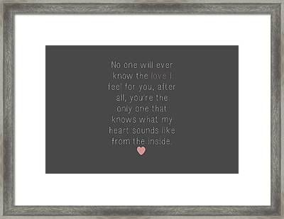 Love Letter To You Framed Print