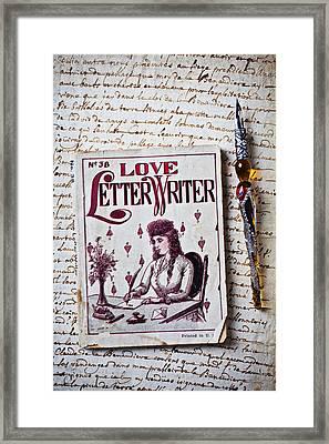 Love Letter Writer Book Framed Print by Garry Gay