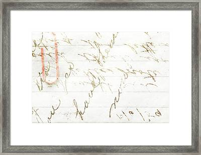 Love Letters Framed Print by Chastity Hoff