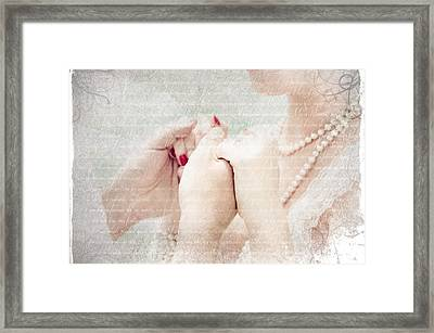 Love Letters Framed Print by Jenny Rainbow