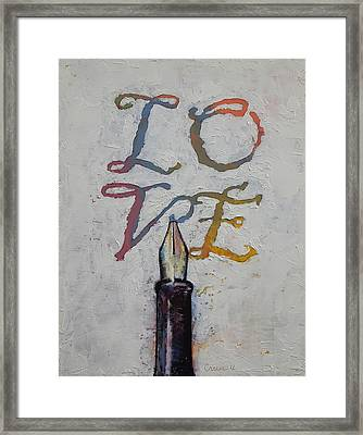 Love Framed Print by Michael Creese