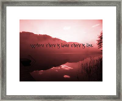 Love Life Framed Print by Sir Josef - Social Critic - ART
