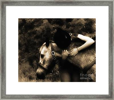 Love Like A Cowgirl Framed Print by Steven Digman