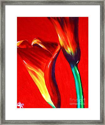 Love Lilies Framed Print