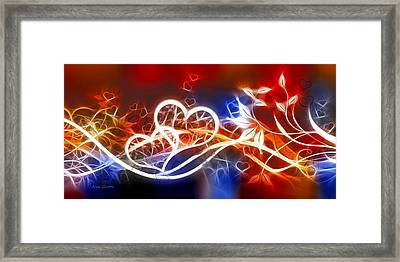 Love Lines Framed Print