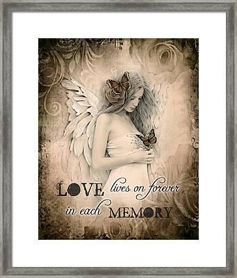 Love Lives On Framed Print