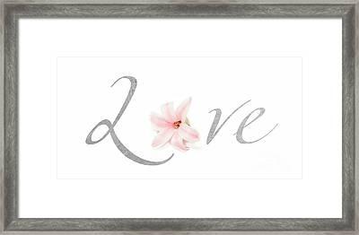 Love Framed Print by Lucid Mood