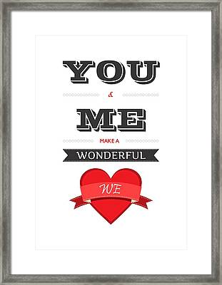 Love Lyrics Quotes Typography Quotes Poster Framed Print by Lab No 4 - The Quotography Department