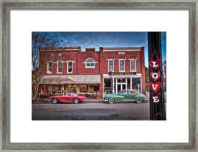 Love Main Street On Saturday Morning Framed Print by Williams-Cairns Photography LLC