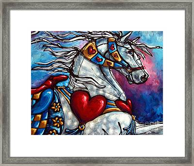 Love Makes The World Go Round Framed Print