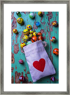 Love Marbles Framed Print by Garry Gay